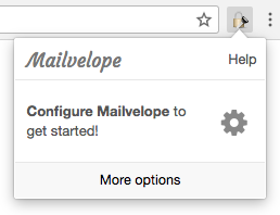 Starting the configuration of Mailvelope